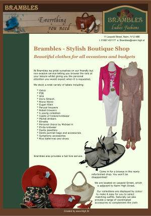 Brambles Ladies fashions